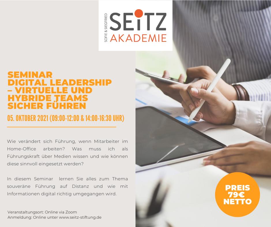 Seminar – Digital Leadership // virtuelle und hybride Teams sicher führen