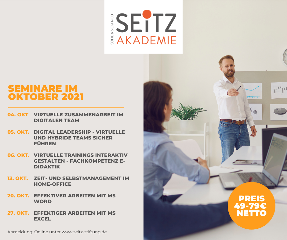 Seitz-Seminare im Oktober 2021